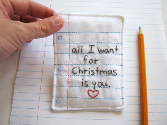 sweet sentiment...great gift tag or ornament...plus...one of my favorite holiday songs!
