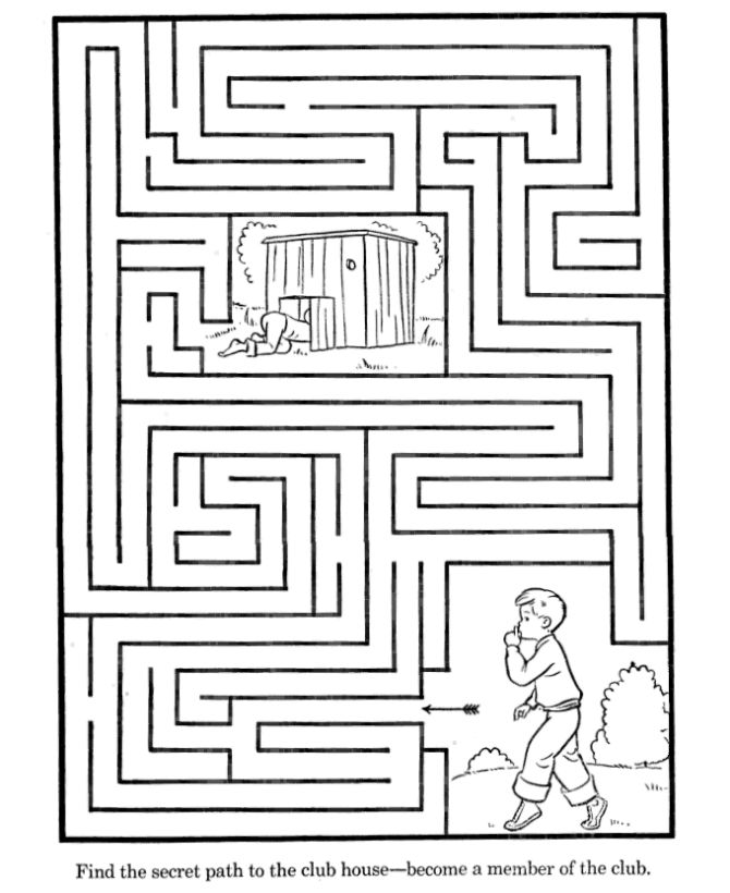 Maze Activity Sheet | Channel Maze - Path to the Clubhouse