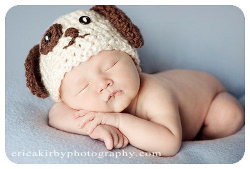 Cute puppy face to embroider: Newborns Hats, Puppies Dogs, Newborn Hats, Newborns Pics, Dogs Newborns, Baby, Newborns Poses, Puppies Hats, Newborns Puppies