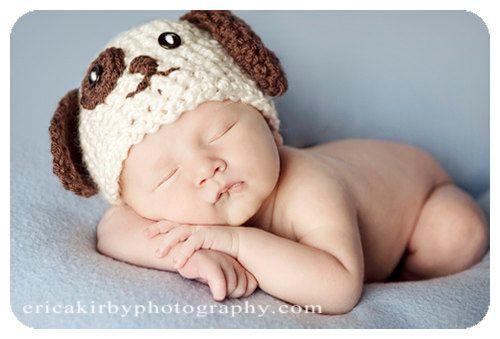 baby in puppy dog hat