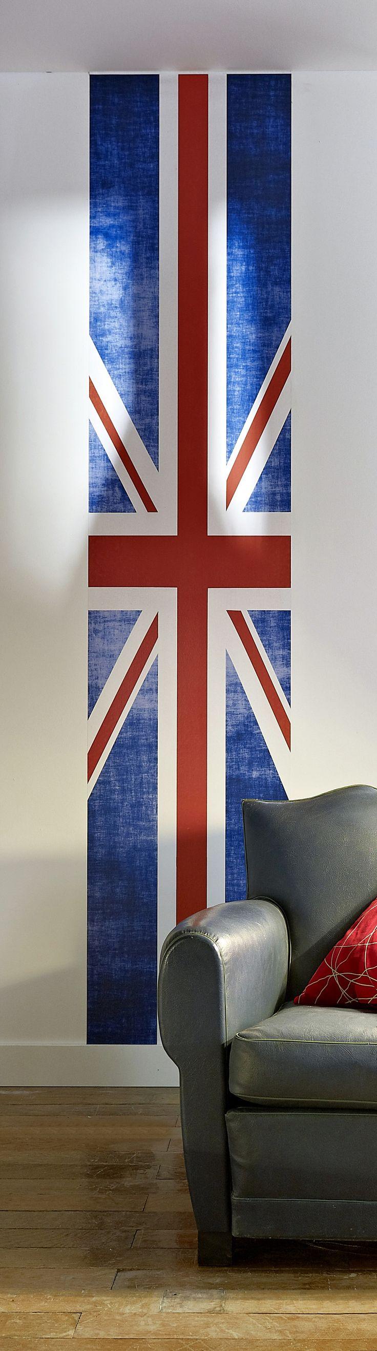 Vous êtes fan de l'Angleterre ? Optez pour le papier peint lé unique Union Jack !