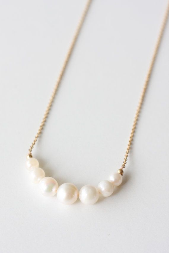 Pearl pedant Pearl necklace Fresh water pearl by moemiSugimura