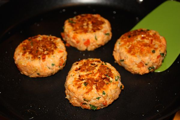Salmon Patties. Fun side note: Recipe from Jenny Jones, yes, THAT Jenny Jones.