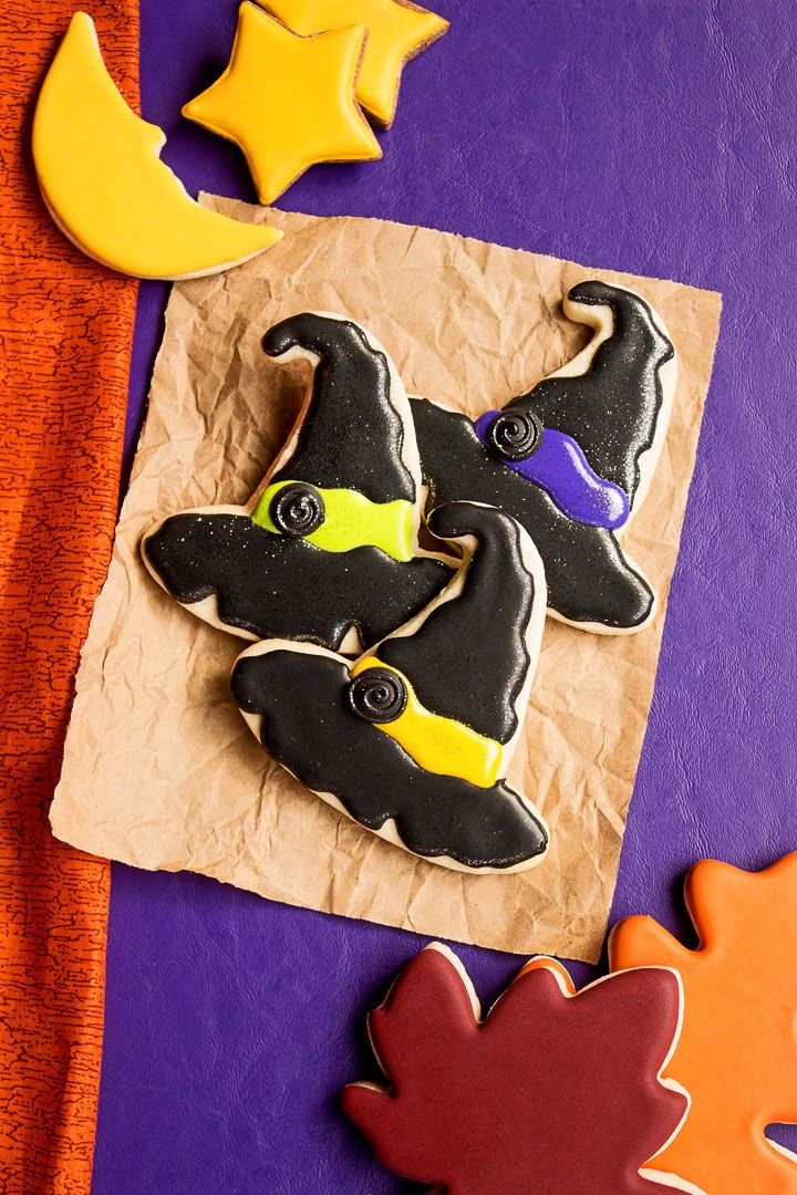 373292d7052 As Halloween approaches you ll find many fun cutters in the stores. Making  witch hat cookies are simple and you can find a witch hat cutter almost  anywhere.