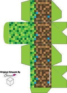 Printable Minecraft favor box free