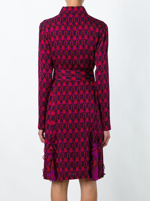 Diane Von Furstenberg платье-рубашка с узором