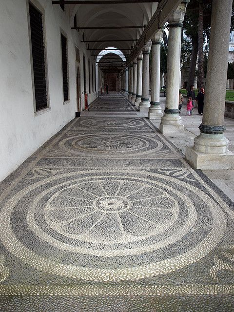 Istanbul, Topkapi pebble mosaic by doc(q)man, via Flickr