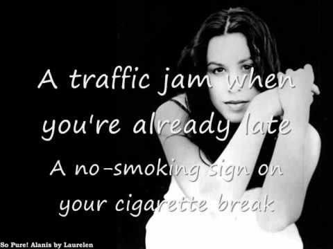 Ironic, the song, is not Ironic.  It's bad luck, not irony! . . . Still a great song - Alanis Morissete with lyrics~Em♥