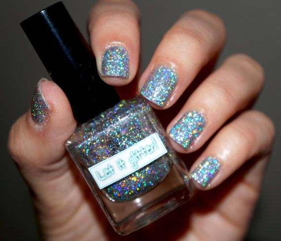Holographic glitter nail polish - Be Brilliant