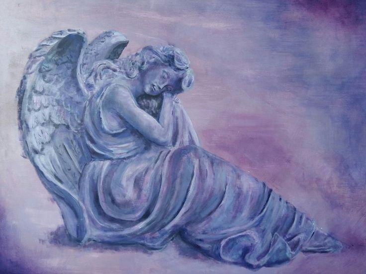Engel, acryl op hout. Marian Plomp