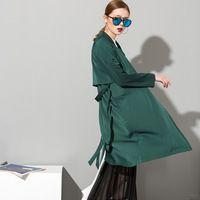 2017 Весна Европейских и Американских улице длинное пальто свободно длинными рукавами винтаж черное кружево пиджак женский дикий зеленый 3W0106