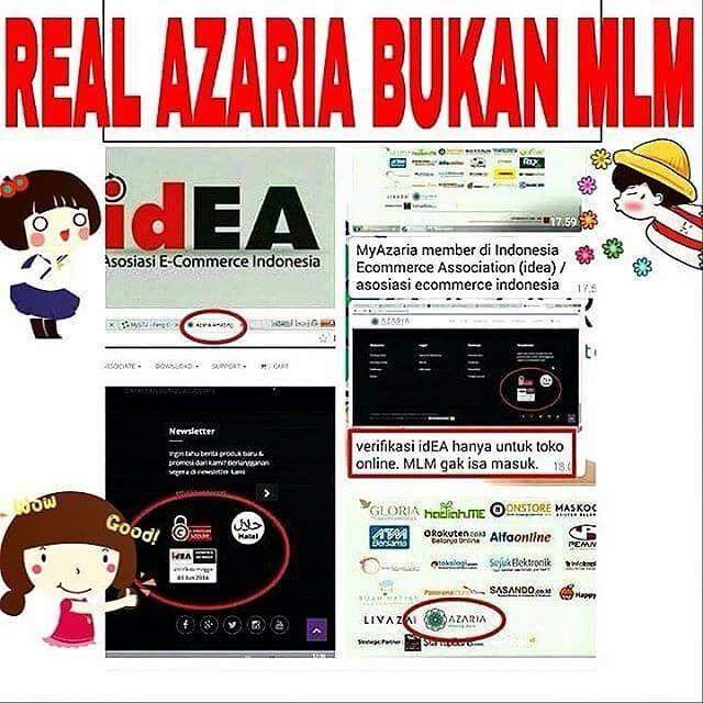 http://www.youtube.com/channel/UCqEqHuax3qm6eGA6K06_MmQ?sub_confirmation=1 SEKEDAR INFO NIH..AZARIA REAL NO MLM YAK.. . JADI JELAS DONK YA AZARIA BUKAN MLM... NO NO NO.. BIG NO... KARENA AZARIA SUDAH MASUK verifikasi idea. . Apa Itu idEA ? . Asosiasi E-Commerce Indonesia (idEA  Indonesian E-Commerce Association) merupakan wadah komunikasi antar pelaku industri E-Commerce Indonesia. Pertumbuhan E-Commerce di Indonesia yang begitu pesat membuat diperlukannya iklim industri yang sehat dan…