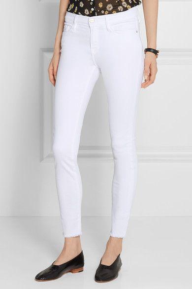 White stretch-denim Button and concealed zip fastening at front 91.5% cotton, 6% polyester, 2.5% Lycra Machine wash Designer wash: Blanc