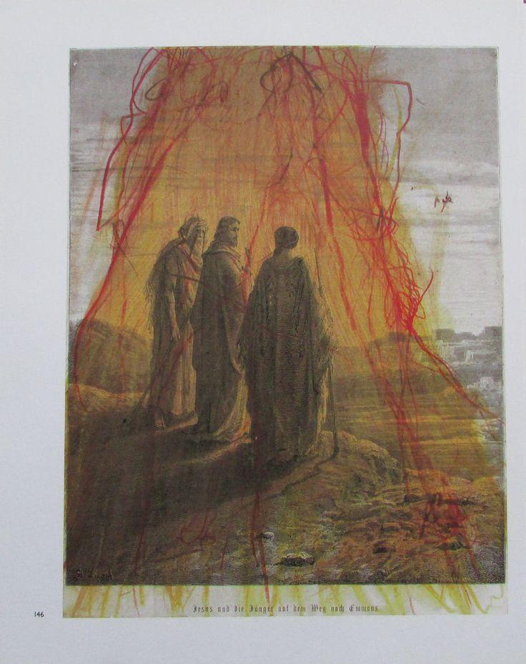 Arnulf Rainer JESUS UND DIE JÜNGER AUF DEM WEG NACH EMMAUS Übermalung Druck | eBay
