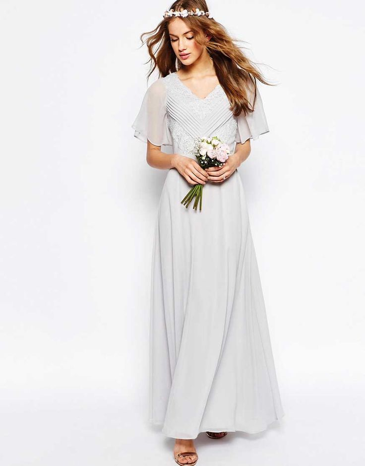 Lace and Pleat Maxi Dress, from ASOS Wedding
