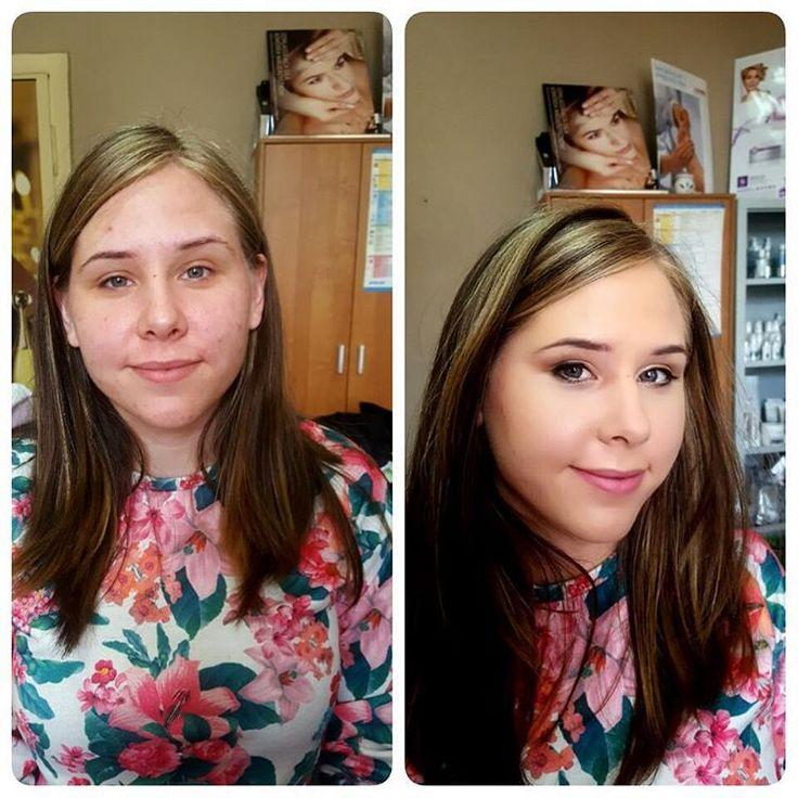 """#beforeafter #polishgirl #workshop #cosmetology #school #cover#contour #lashes  Makijaż pokazowy wykonany dla sluchaczek Kosmetyki.  Wiktoria ❤ Naturalny, dzienny makijaż """" do chodzenia """" �� Skupilam się głównie na wyrownywaniu kolorytu skóry i tuszowaniu niedoskonałości.  Miłego weekendu �� http://tipsrazzi.com/ipost/1523786992561825893/?code=BUllDJFAihl"""