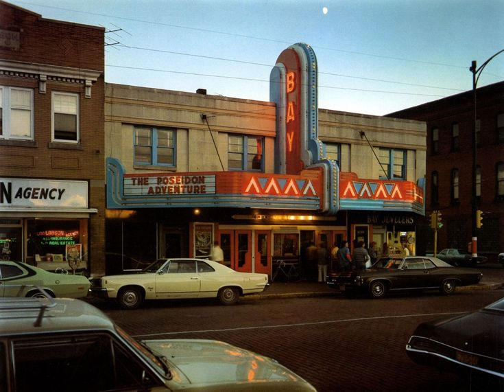 Stephen Shore, Bay Theater, 2nd Street, Ashland, Wisconsin, July 9, 1973