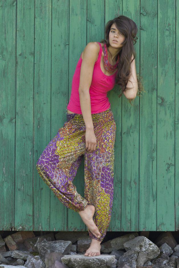 Szarawary alladynki spodnie baggy joga