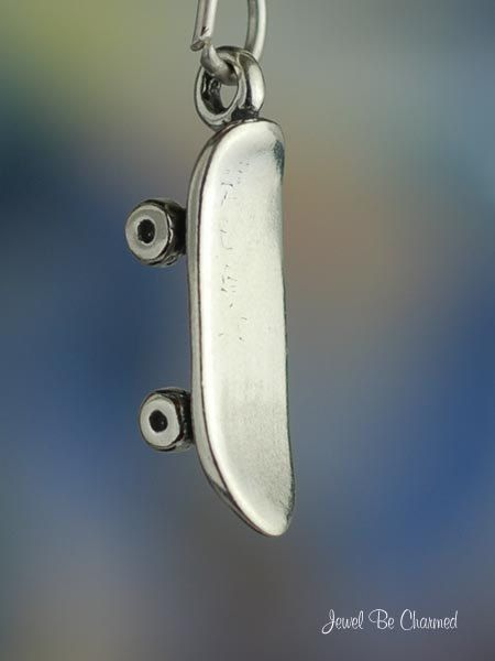 Skateboard+Charm+Sterling+Silver+Skate+Deck+for+by+jewelbecharmed,+$8.95