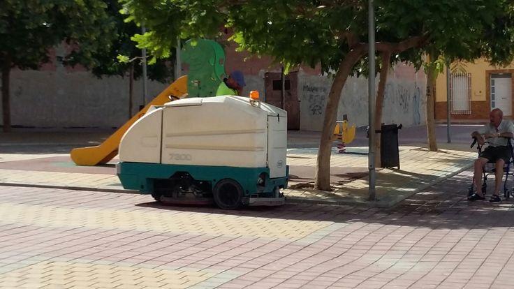 Fregadora Tennant 7300 en Mazarron (Murcia).