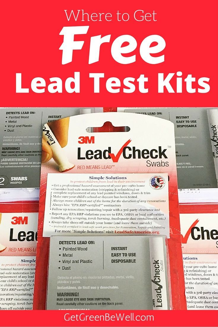Where to get free lead test kits to test your home, furniture, jewelry and toys for lead. Get peace of mind and protect your family from lead poisoning.