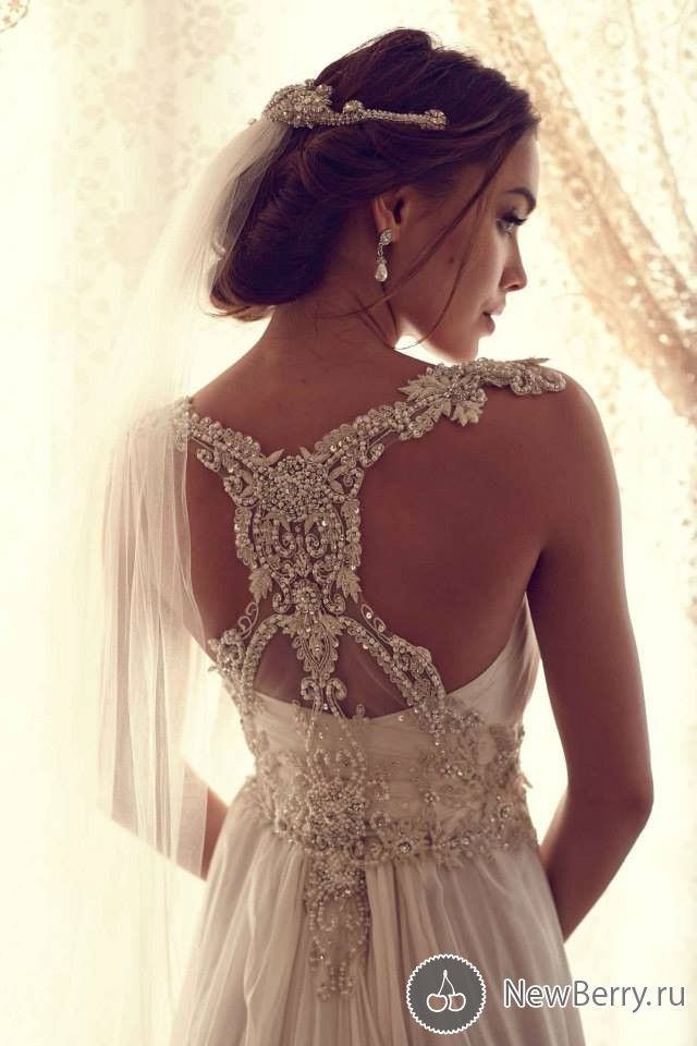 back low cut wedding dress