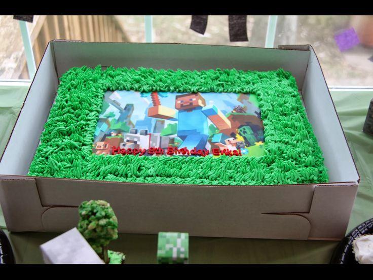 Minecraft Birthday Cake Made By Target Minecraft