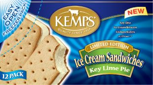 (12 Pack) Kemps Ice Cream Sandwiches Key Lime Pie