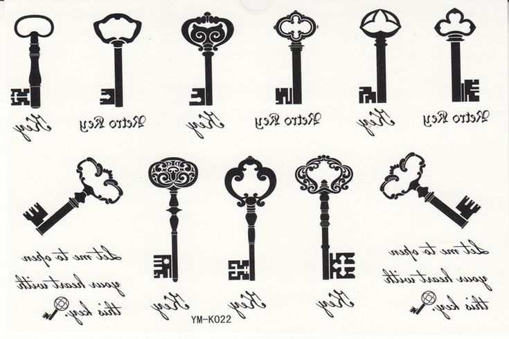 victorian key finger tattoos