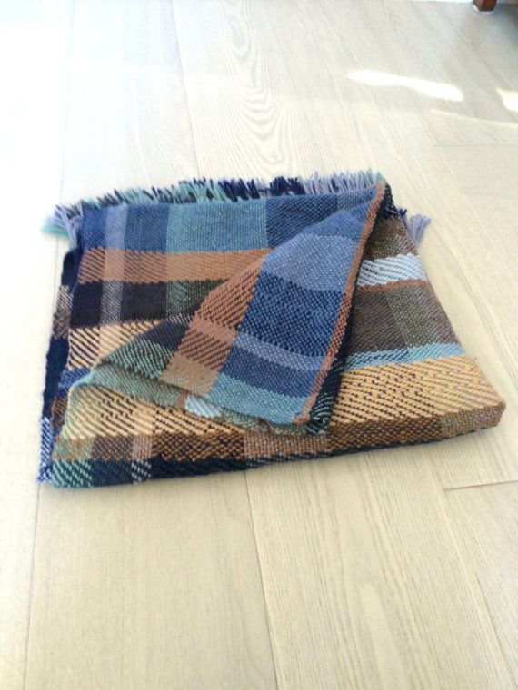 SOLD Handwoven Wool Blanket No 2.3 by michaelawhitney on Etsy