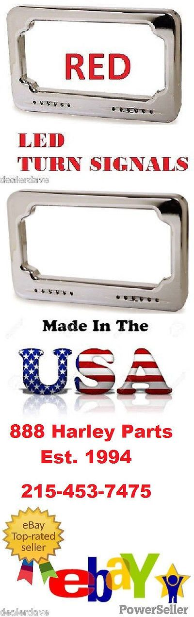 motorcycle parts: Turn Signal License Plate 4 X 7 Sequential Red Led Badlands Harley Electra Glide -> BUY IT NOW ONLY: $144.88 on eBay!