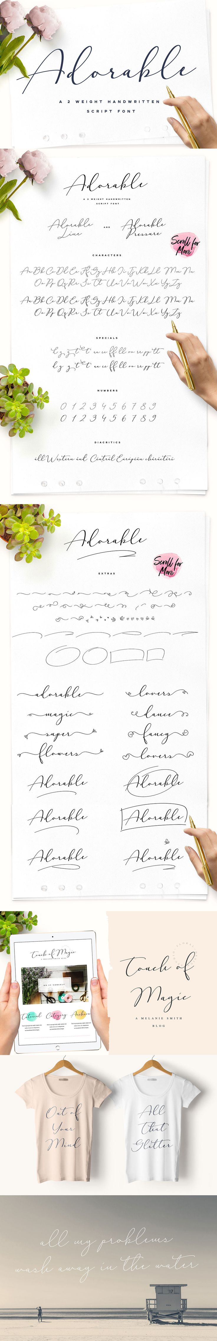 Adorable #Handwritten Script Font! It's characteristic hand look style makes it perfect to use for logos, #signatures, labels, #packaging #design, #blog headlines or simply use it in your next design project. ( #typography #retro #logodesign #whisky #print #inspiration #typeface #font )