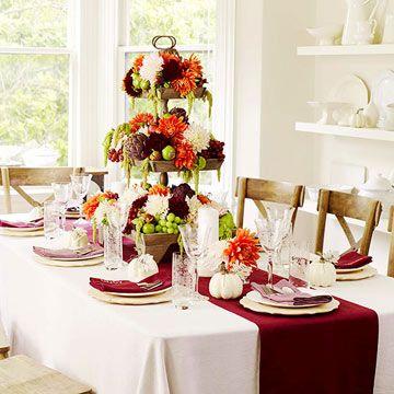 Footed glassware and some fall elements (such as nuts and pinecones) can combine for beautiful fall centerpieces. We'll show you how!
