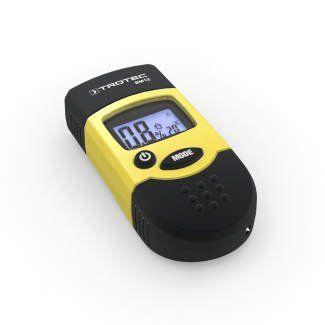 TROTEC BM12 Humidimètre: Mesure de l'humidité du bois et du bâtiment avec un seul appareil Affichage direct en Vol% Capuchon de protection…
