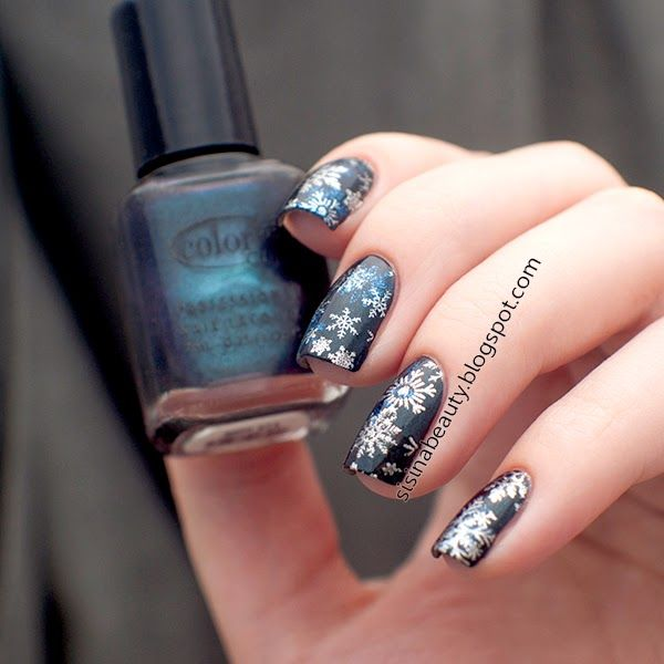 Sisina Beauty : Winter 11DNC day 9: зимний нейл-арт. Color Club #9...