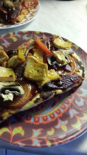Vegan pizza... omm...
