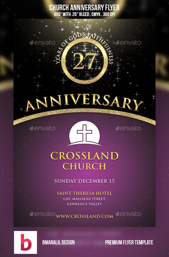 this flyer is suitable for a christian church anniversary