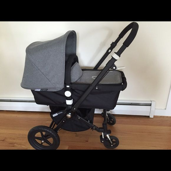 Bugaboo Cameleon Grey Melange Complete Stroller In excellent condition. The stroller comes complete with Black Fabric, Red Fabric, and the brand new, never used Grey Melange Fabric (extra long canopy) - also includes rain cover and mosquito net.  I intended on using this stroller with my second child but received a different stroller as a gift.   Both bassinet and seat are included. Bugaboo Other