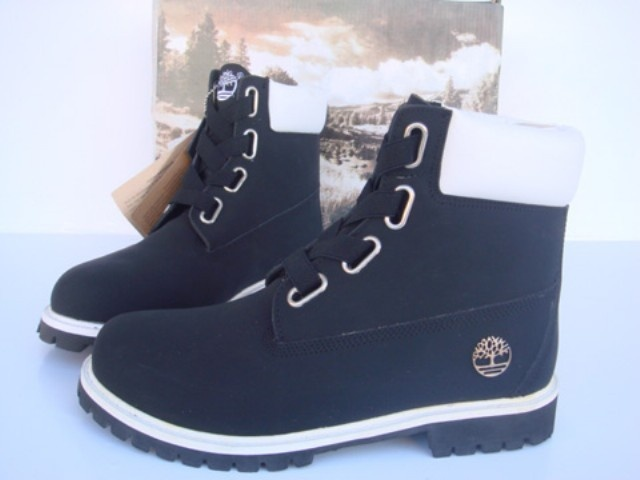 Blue/White Timberland 6 Inch Boots Mens-#114