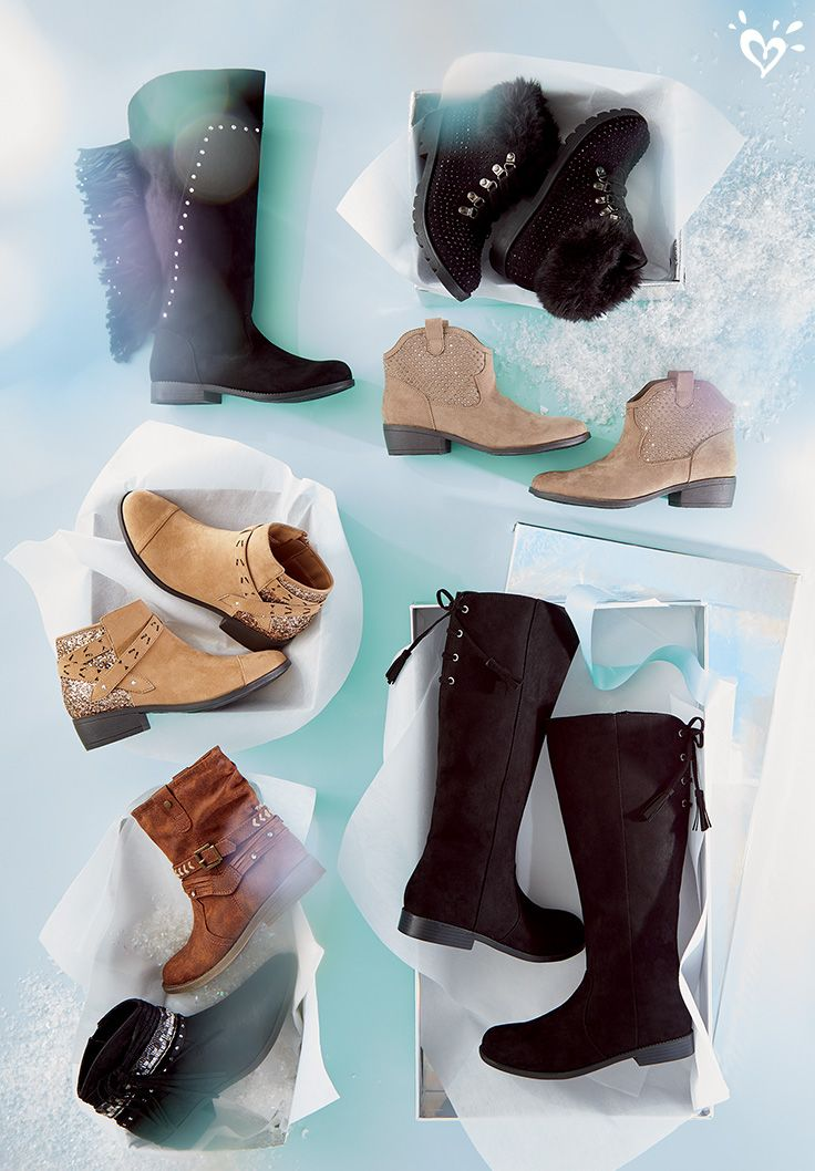 Whether they include rockin' tall boots or sassy ankle boots, wishlists can't go wrong when they include fashion's best styles from Justice!