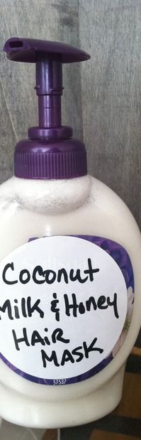 Coconut milk and honey hair mask! For growth! || #natural