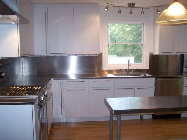 Stainless Steel 4 Finish Counter Top With Integrated Sink Installation