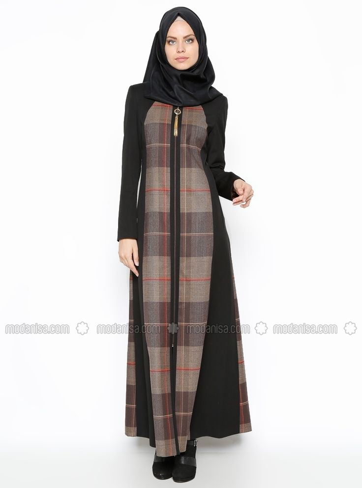 Zippered Overcoat - Brown - Zulal More