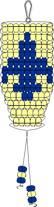 Boy Scout Emblem Pony Bead Pattern - Scouting Crafts and Activities - added ribbon to be used for crossover mother's pin then for scout mother's rank pins.