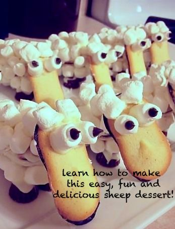 super easy and adorable sheep dessert... great for Easter or any time!