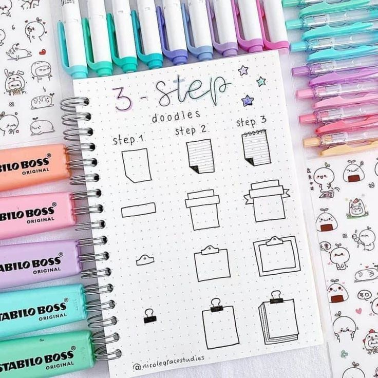 Bullet Journal Doodles: 20 idées étonnantes de griffonnage pour les débutants…