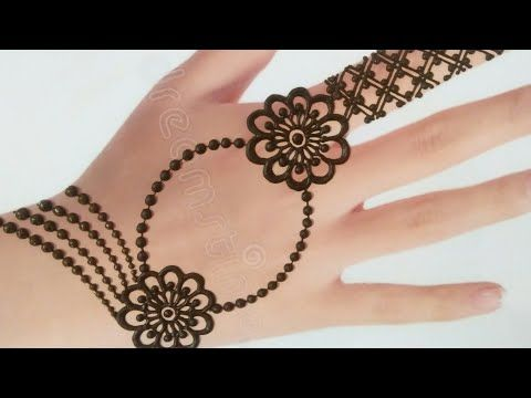 Back Hand Jewellery Mehndi Design Simple Stylish Mehndi Design Chain Style Gol Tikki Mehndi Youtube Mehndi Designs Desain Henna Tato Henna