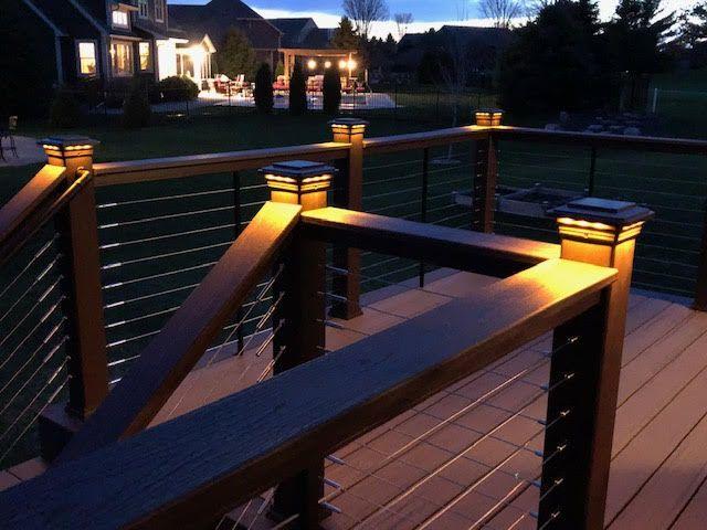 Solar Post Cap Light For Trex Transcend Post Sleeves By Ultra Bright Backyard Deck Outdoor Deck Lighting Decks Backyard