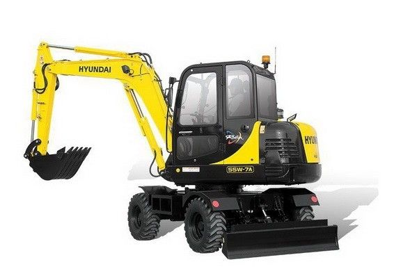 Hyundai R55w 7a Mini Wheel Excavator Service Manual Hyundai Excavator Manual