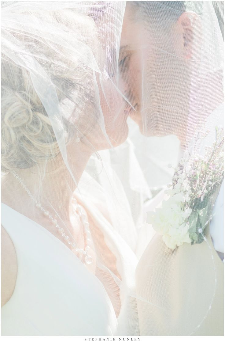 Classic veil over the face wedding portrait at Royal Ridge Weddings in Hot Springs Arkansas.